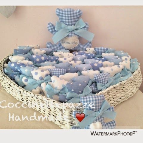 COCCINELLEPAZZE Handmade: I teddy bears per il battesimo di Samuele