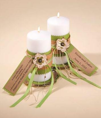 CHA - Charitable Donation Wedding Favors. Attach the poem to a nice candle?