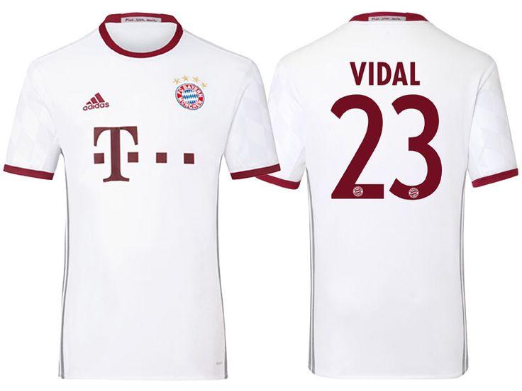 Bayern Munich #23 Arturo Vidal 2016-17 Alternate Jersey