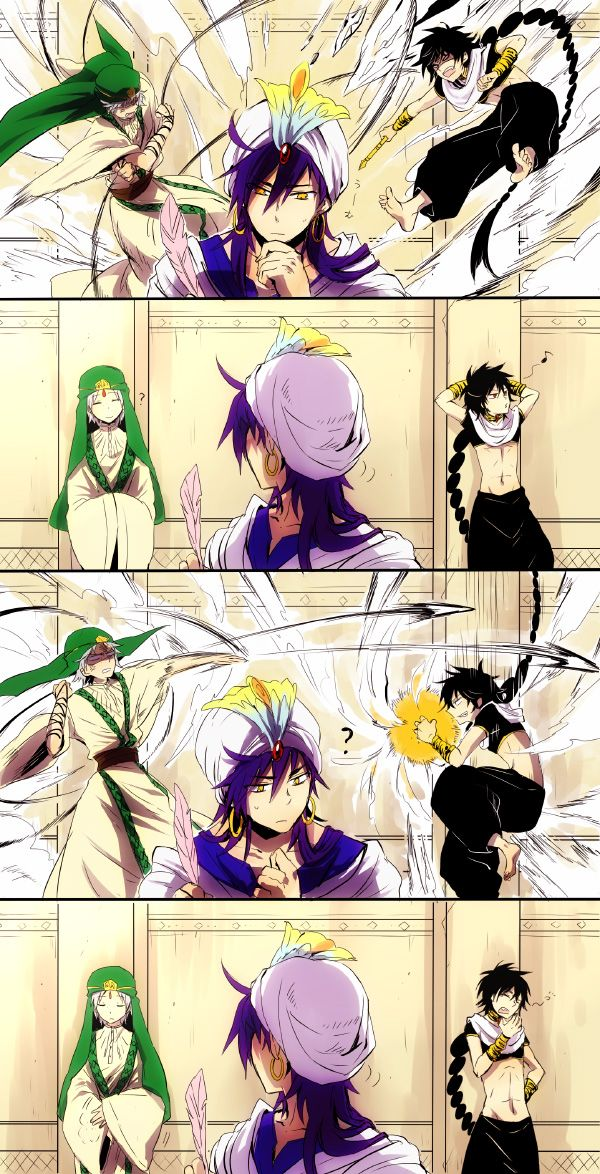 MAGI: The labyrinth of Magic. This is so true it hurts. Sinbad, baby... you need to learn when your people are behaving is when they are at their most deviously dangerous....