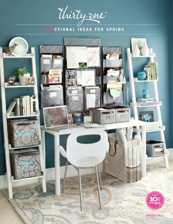 Thirty-One Desk OrganizationIdeas, Decorations Inspiration, Decor Desks, Desktop Organic, Double Ladders, Desks Organic, Thirty On Desks, Desk Organization, Offices Organic