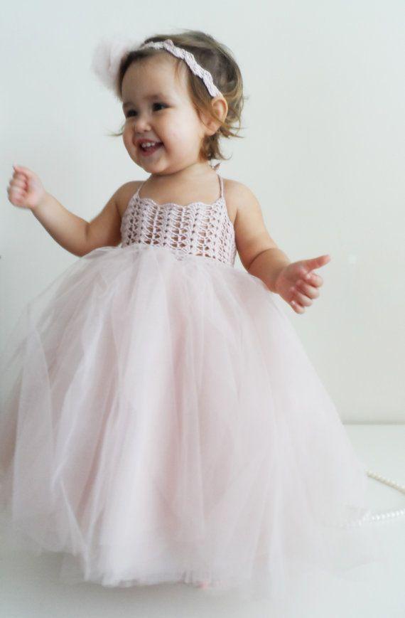 Ankle Length Baby Girl Tutu Dress Baby Flower Girl Tulle