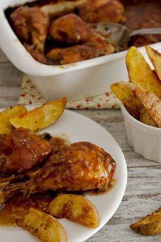 POLLO A LA COCA COLA 1 bandeja de pollo troceado 1 sobre de sopa de cebolla 1 lata de Coca Cola