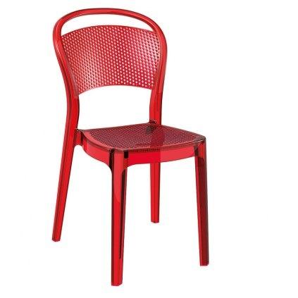Avec son effet nid d'abeille, la chaise bee joue sur la transparence. Des lignes douces et arrondies, elle est entièrement réalisée en polycarbonate.