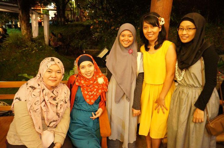 with Mia, Dina, Mba Litha and Dwi Malicka