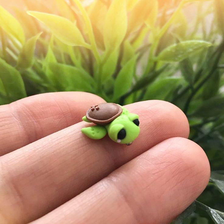 Süßes Baby Schildkröte Fußkettchen-Schmuck Glücksbringer | Etsy