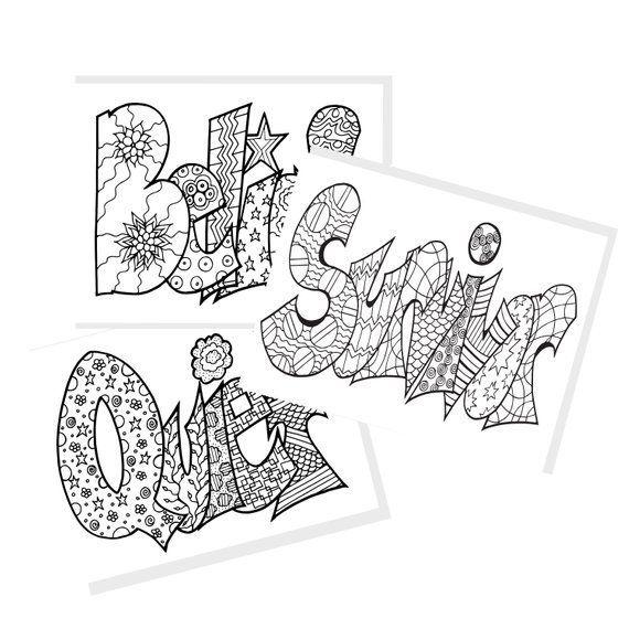 Meditation Words Digital Coloring Book Instantly Download Print And Color Belief Survivor Quiet 10 Coloring Books Coloring Pages Free Coloring Pages