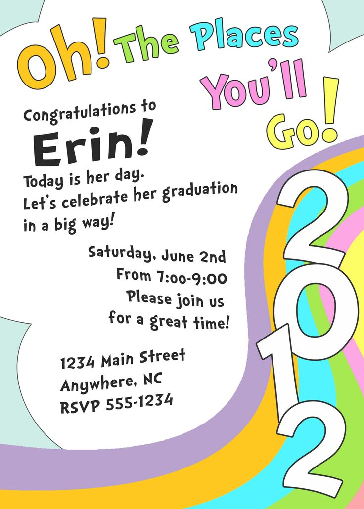 238 best Graduation Party IdeasOh The Places Youu0027ll Go! images on - best of invitation wording graduation