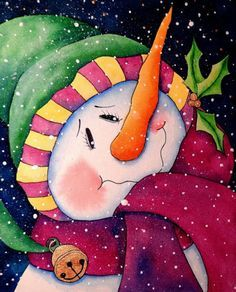 snowman painting - Google Search