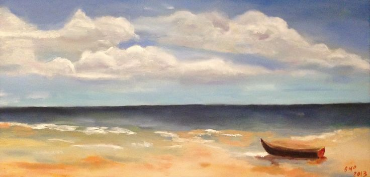 """""""Waiting to Return"""" Oil on Canvas - 30"""" x 15"""""""