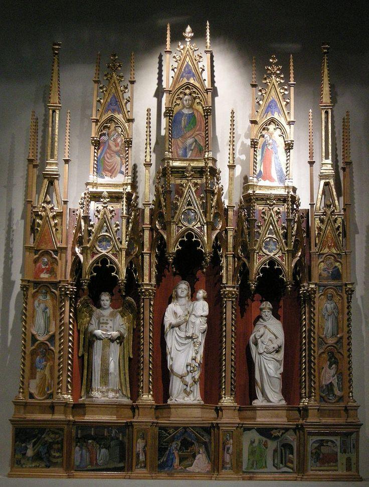 Приамо делла Кверча. Алтарь-табернакль из церкви св. Михаила и Петра. 1420е гг. Музей Вилла Гвиниджи, Лукка.