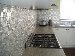 pressed metal splashbacks - kitchen Google Search