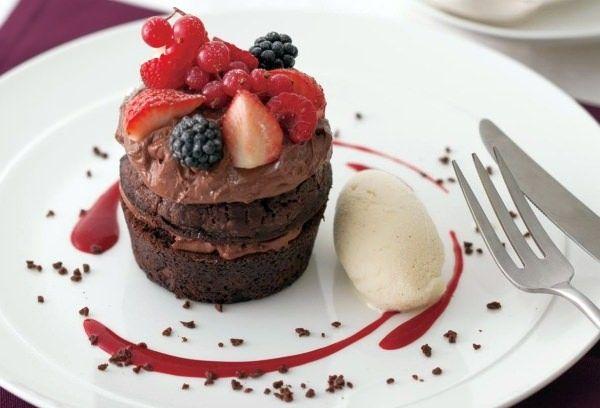 キハチ カフェにバレンタイン限定「チョコレートマスカルポーネケーキ」