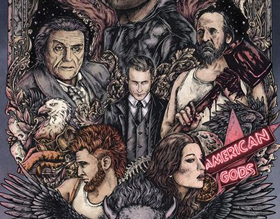 """Check out new work on my @Behance portfolio: """"American Gods"""" http://be.net/gallery/51938215/American-Gods"""
