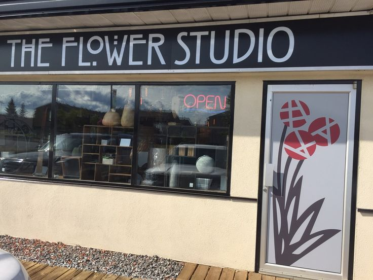 Great store front signage by Speedpro Signs Fort McMurray for the Flower Studio!