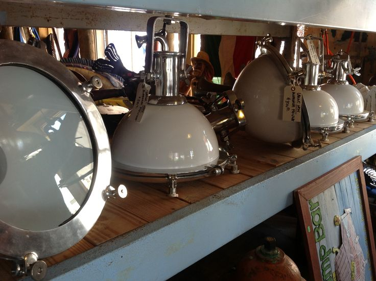 Salvaged Nautical Lighting At Antiques And Tropical Decor Galveston TX