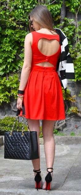 Heart Cut-Out Back Dress <3 this woulx be sooo cute for valentines day