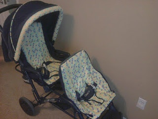 find a cheap stroller that functions well but is faded/ ugly?! recover it!!!! :)