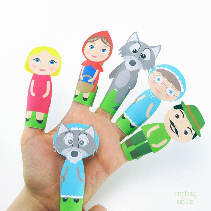 Sweet-Little-Red-Ridding-Hood-Finger-Puppets.jpg (700×700)