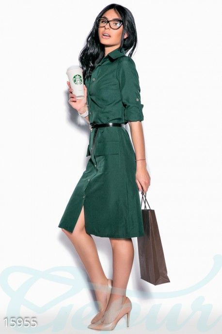 Gepur | Стильное платье-рубашка арт. 15955 Цена от производителя, достоверные…