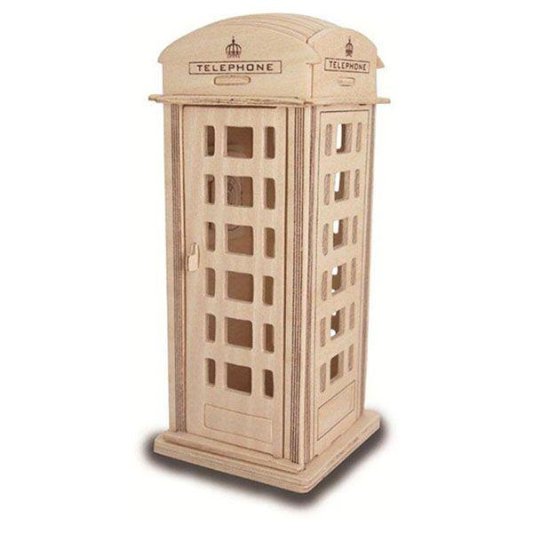 Engelse telefooncel – Houten bouwpakket