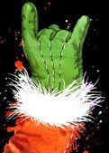 Санта-Клаус акварель новый год танцевальные вечеринки. партия Акварельные иллюстрации — стоковое фото #91859000