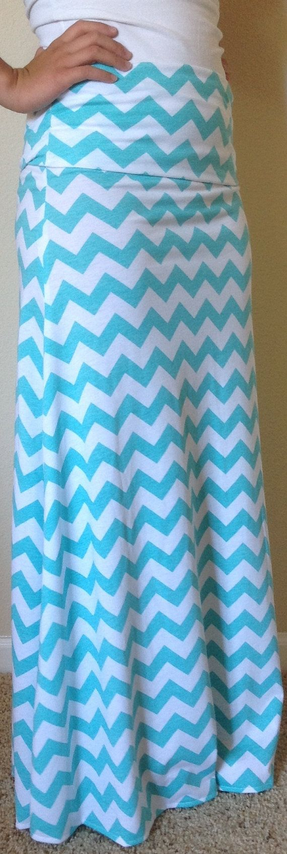 Hey, I found this really awesome Etsy listing at https://www.etsy.com/listing/130063789/tiffany-blue-and-white-chevron-maxi