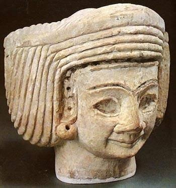 Tell Agrab 2650 BCE: female head   The National Museum of Iraq - Baghdad