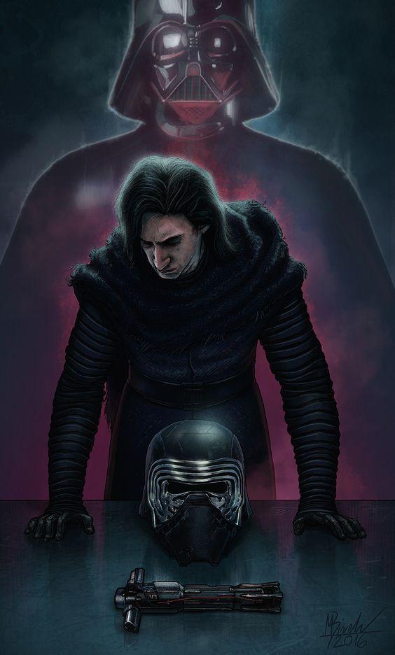 Kylo Ren and Darth Vader Star Wars