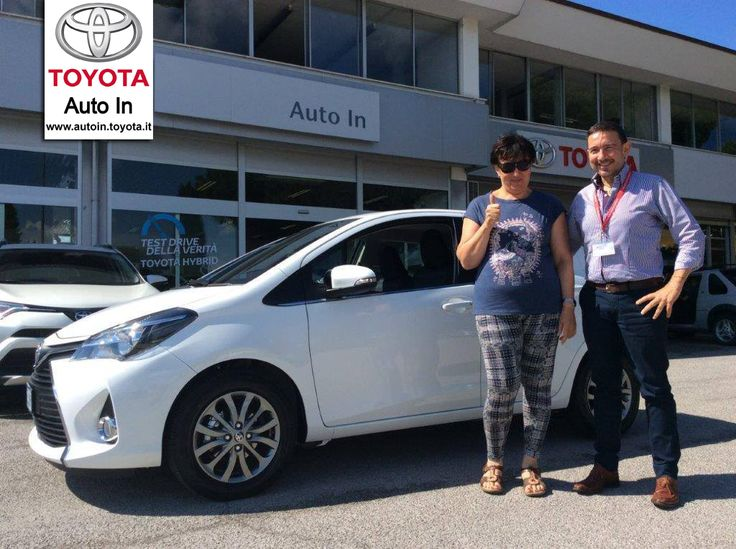 Ottima scelta Daniela. Una bellissima #Toyota #Yaris bianca per te. Congratulazioni!!!