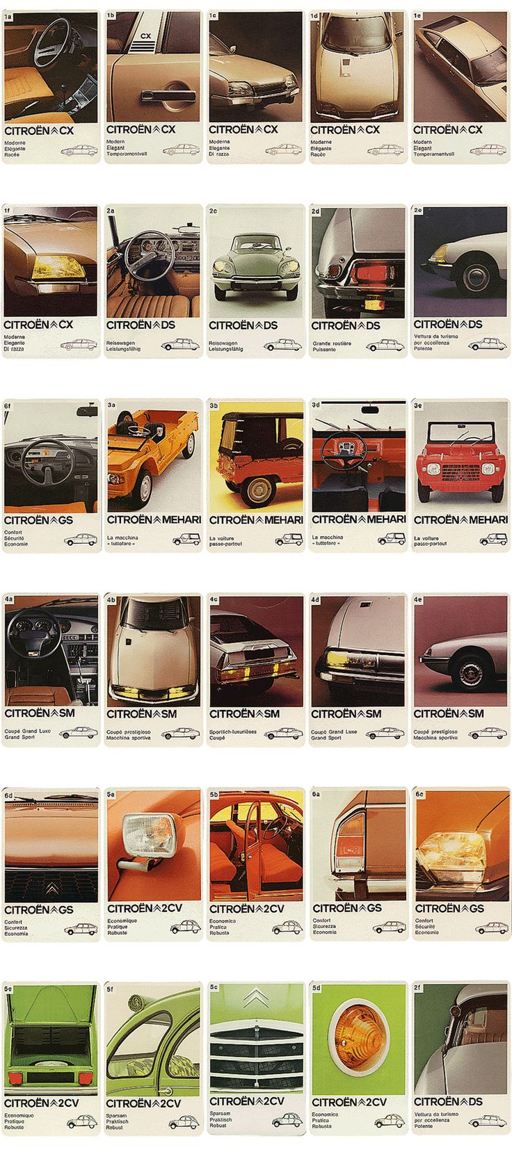 Classic Citroën Playing Card Game - AnotherDesignBlog.