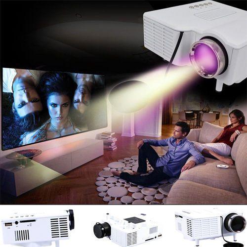 Mini US HD 1080P LED Projector Home Cinema Theater Multimedia PC USB SD HDMI