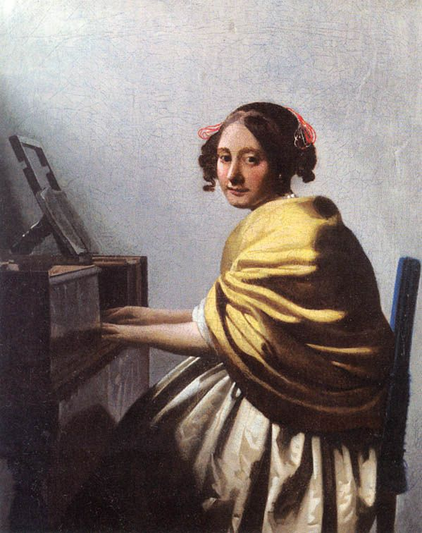 Vermeer - A young Woman seated at the Virginals