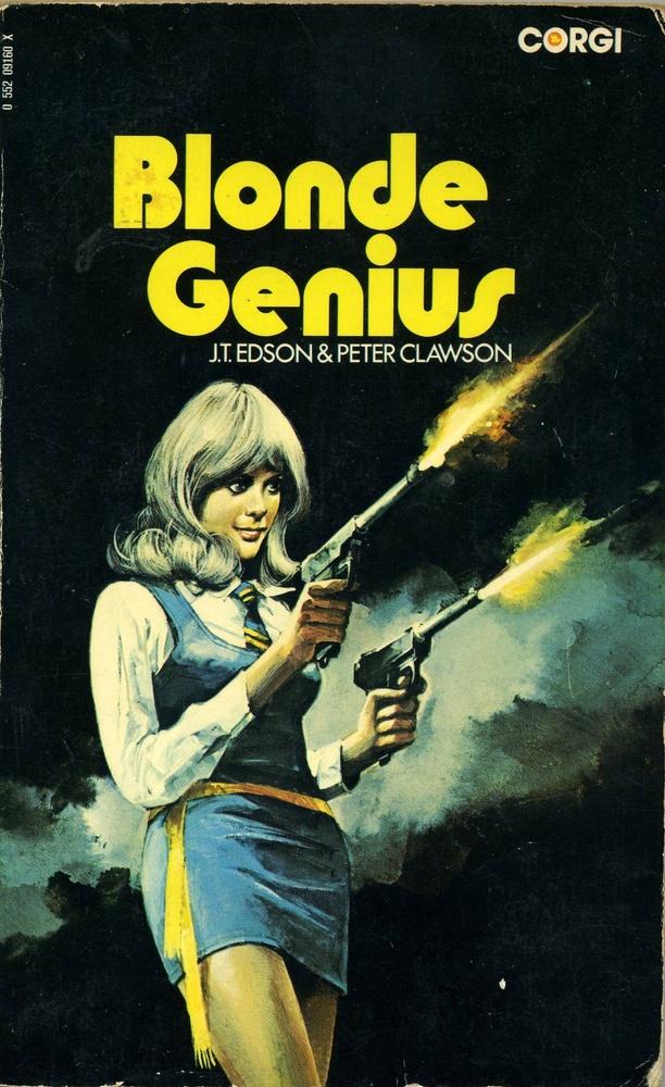 """Blonde Genius"" | Vintage Pulp Fiction Paperback Book Cover Art | Sugary.Sweet…"
