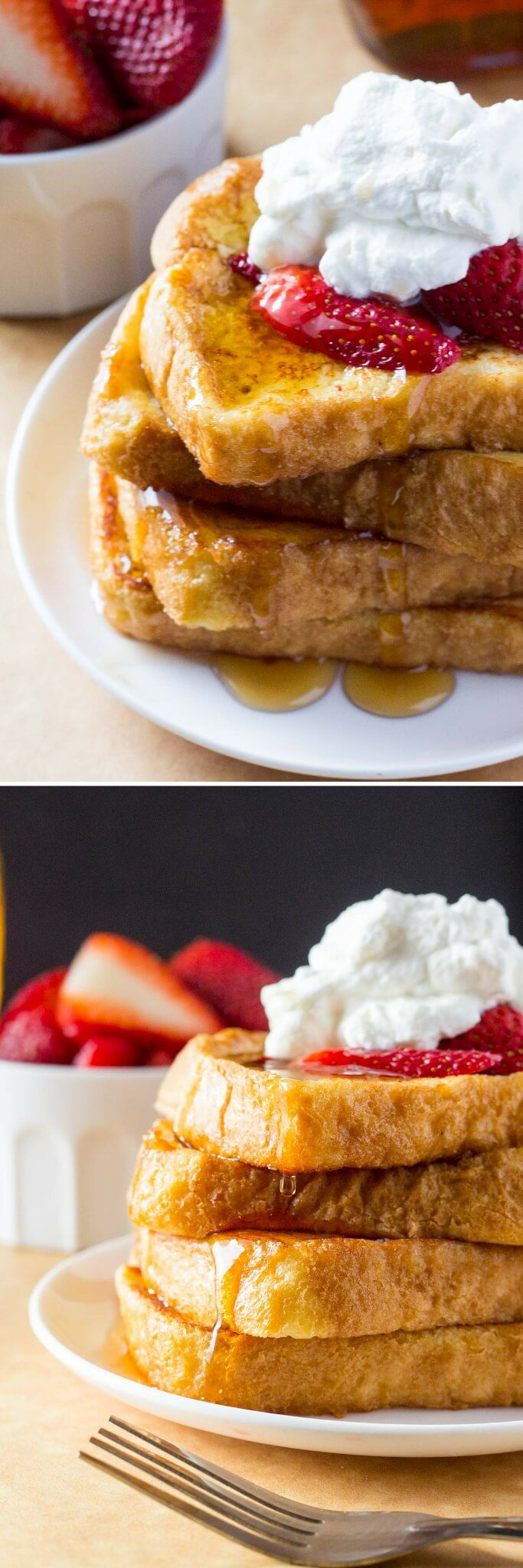 The BEST French Toast - fluffy, buttery, golden brown, topped with maple syrup…