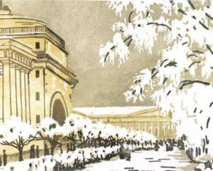 Admiralty under the snow, 1909