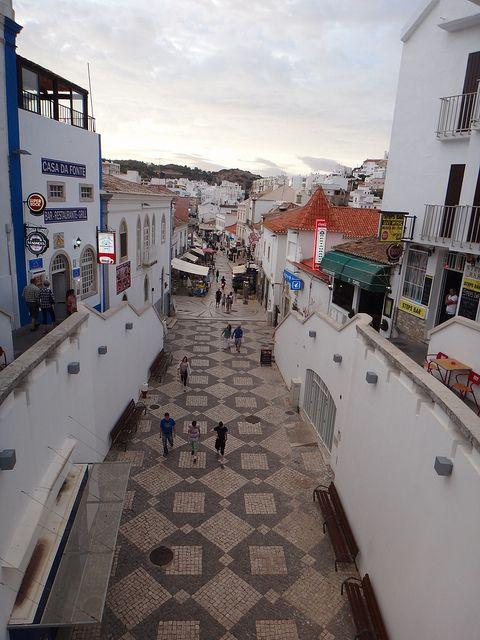 Beach town Albufeira, Portugal
