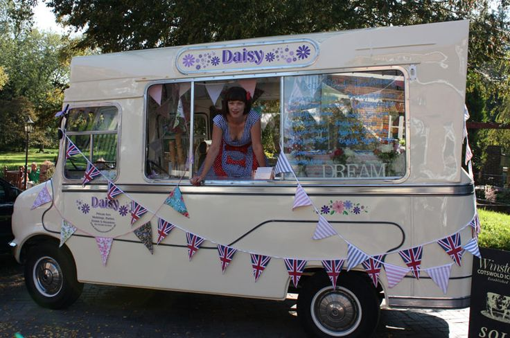 Daisy and her vintage ice cream van