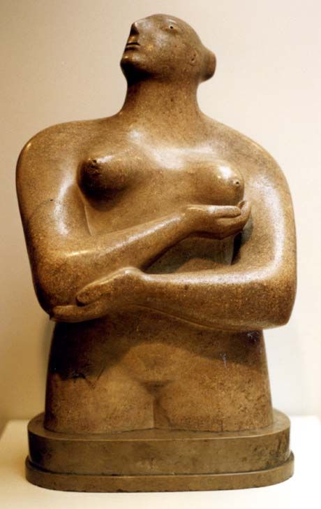 Henry Moore: National Gallery of Victoria  Draped Seated Woman 1957-58
