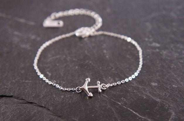 Armbänder - ♥ Armband Anker silber - ein Designerstück von zuckerputzig bei DaWanda