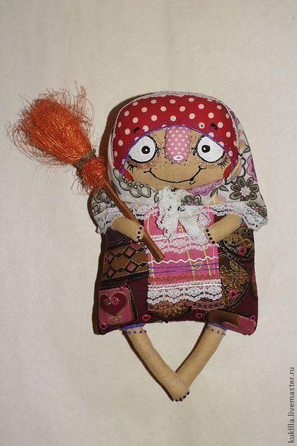 Сказочные персонажи ручной работы. Ярмарка Мастеров - ручная работа. Купить Баба-Ежка. Handmade. Авторская кукла, метла