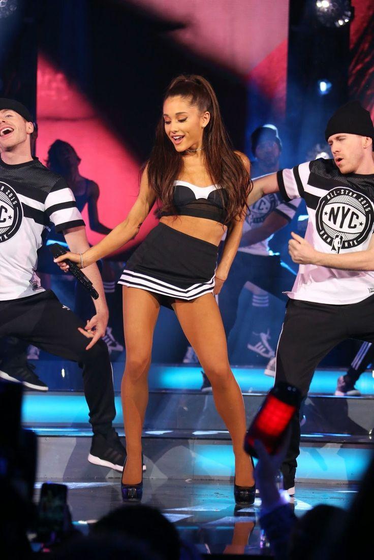 Ariana Grande performing at NBA All-Star Game