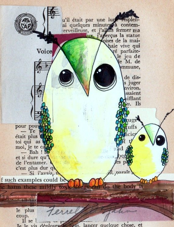 Owl  Owl prints owl lovers delight limited edition set by Cookstah, $26.00