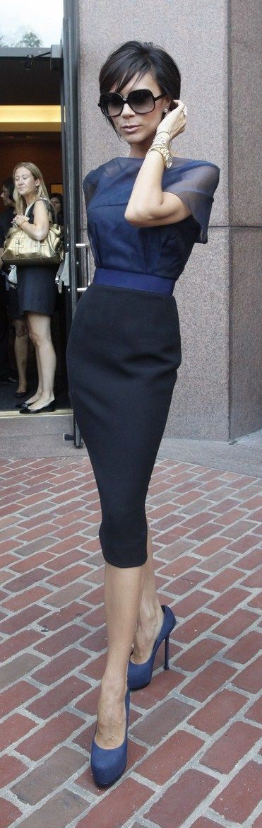 Best 25  Navy blue pencil skirt ideas on Pinterest | Navy skirt ...