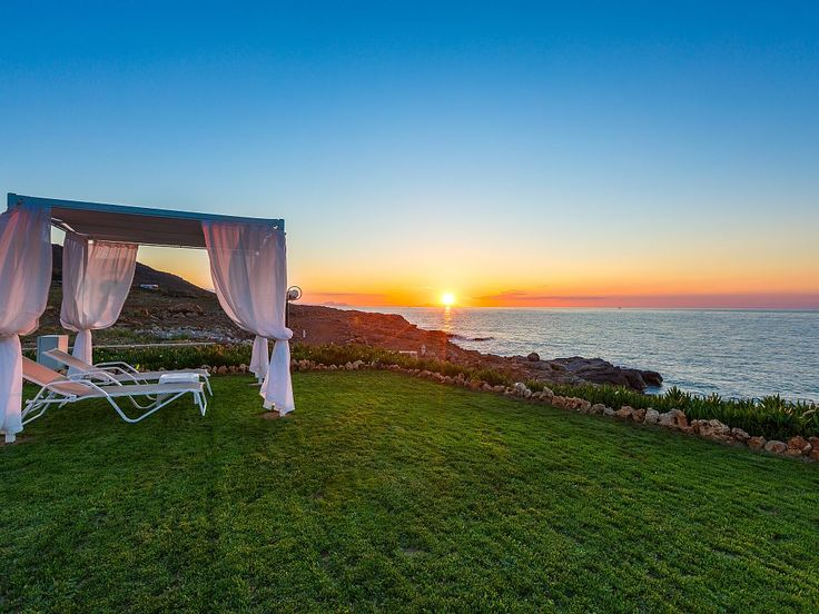 Panormos house rental - Enjoy the sunset and the stunning sea views.