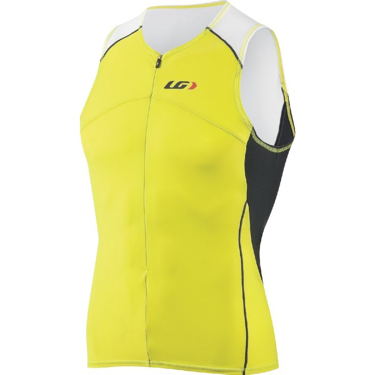 Louis Garneau Men's Comp Tri Top in Sulphur, charcoal and black