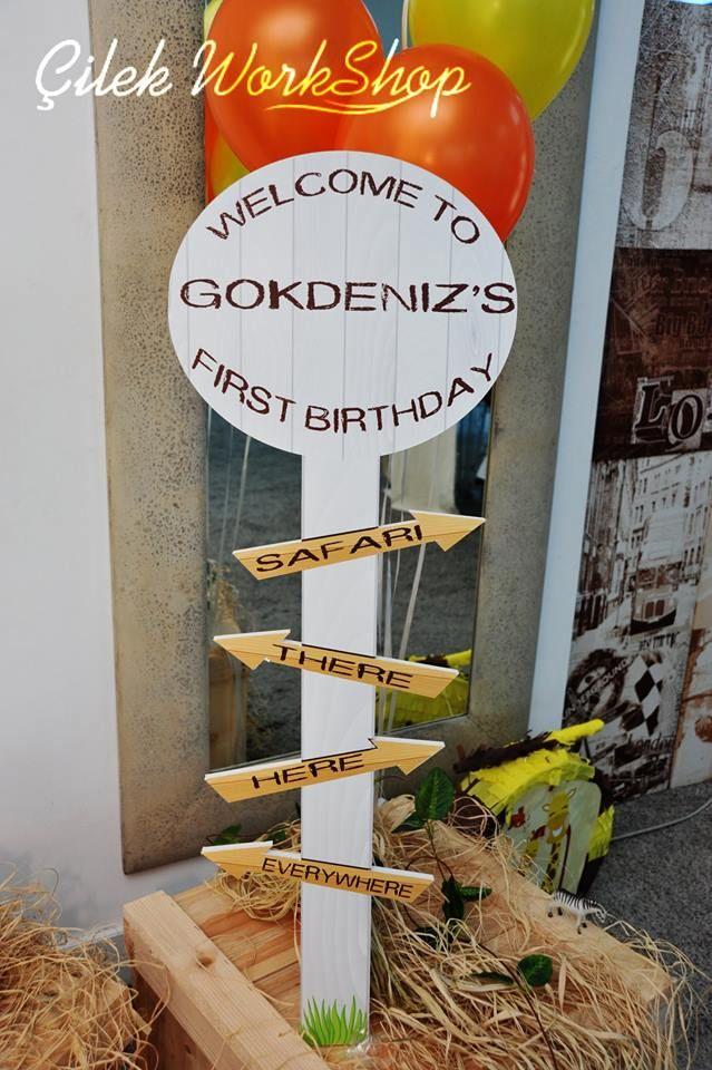 Gökdeniz 1 Yaş Safari Doğum Günü Partisi - 16