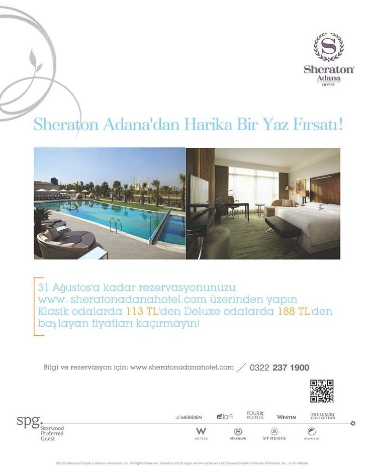 Book your room at www.sheratonadanahotel.com now!