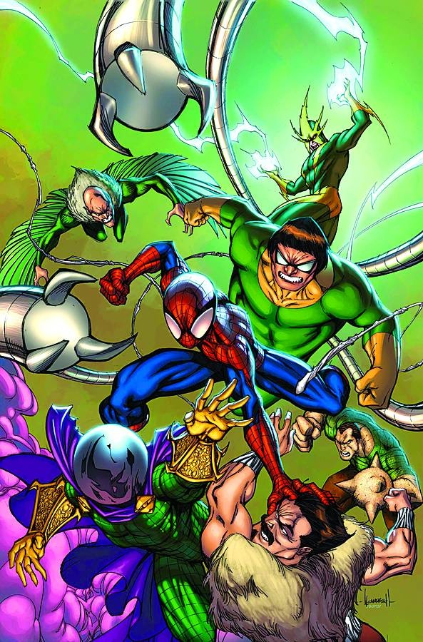 Spiderman vs Dr Octopus, the Vulture, Mysterio, Sandman, and... the Leopard?