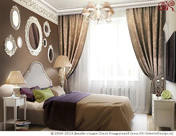 Дизайн-проект неоклассической спальни в квартире - http://www.ok-interiordesign.ru/ph18_bedroom_interior_design.php